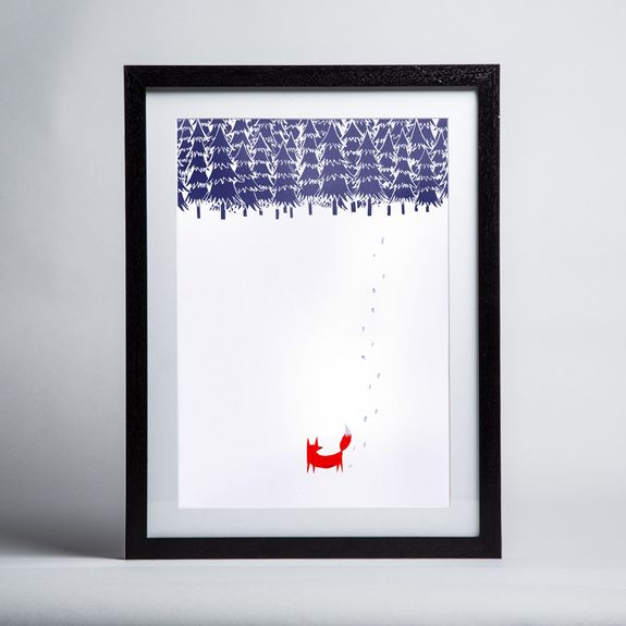 Robert Farkas - Alone In The Forest - Framed print