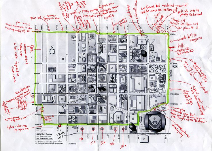 Perimeter Walk by Jen Urso: Walking the perimeter of a tourist map to focus on what exists outside of it.