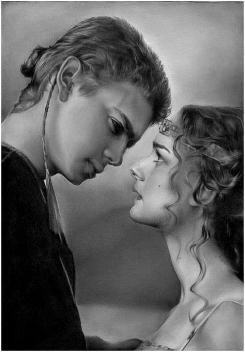 Anakin & Padme in Star Wars attack of the clones episode 2 - my favorite of all the movies <3