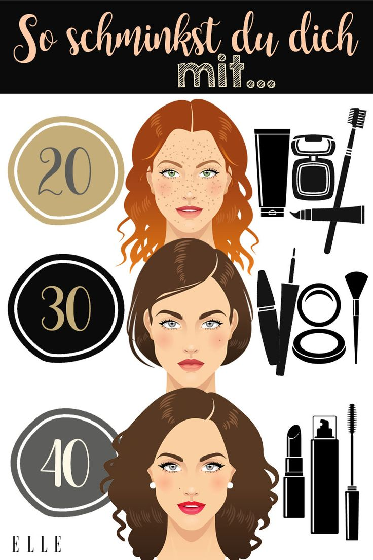 So schminkst du dich mit 20, 30 und 40 Jahren