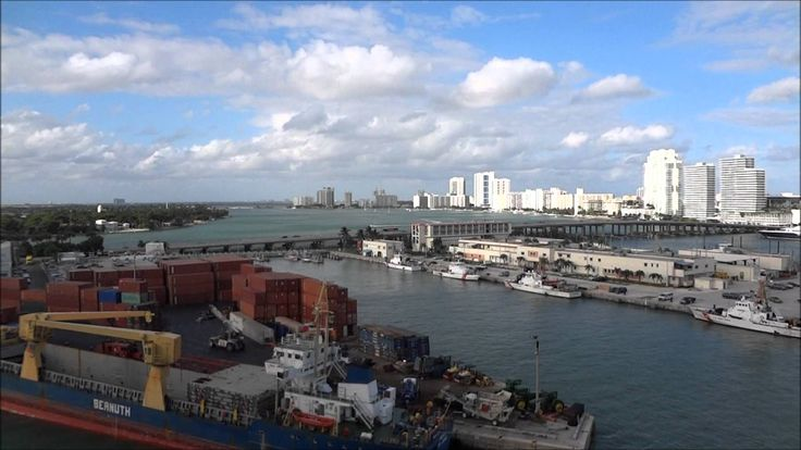 nice Leaving port of Miami and cruising past US Coast Guard Base Miami