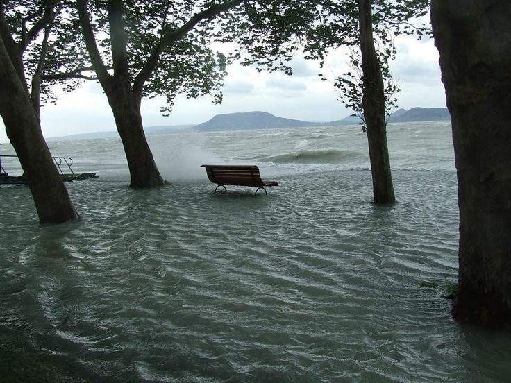 ANGRY LAKE BALATON, HUNGARY