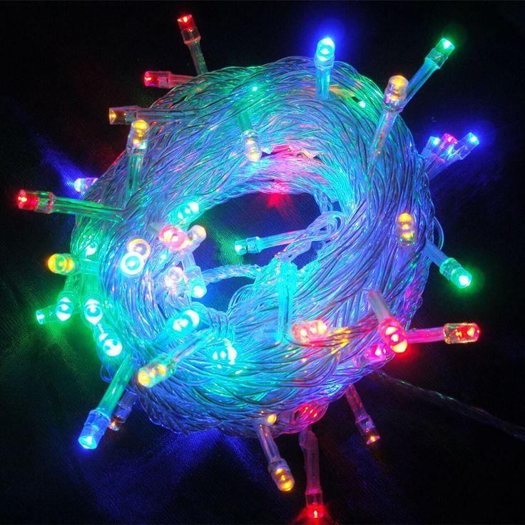 led christmas lights 20m200led 10m100led 9color useu plug ac110 - Christmas Light Flasher Plug