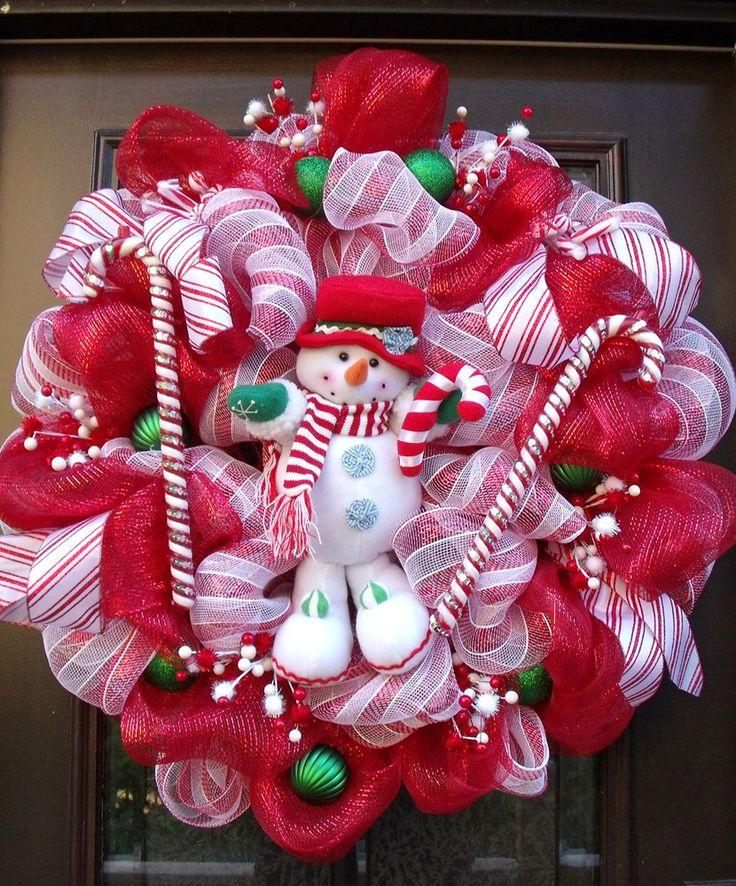 Christmas deco mesh wreath christmas wreath home decor for Deco christmas decorations