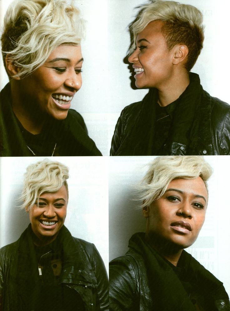 Emeli Sandé -- incredible artist. And her hair is the greatest thing I've ever seen.