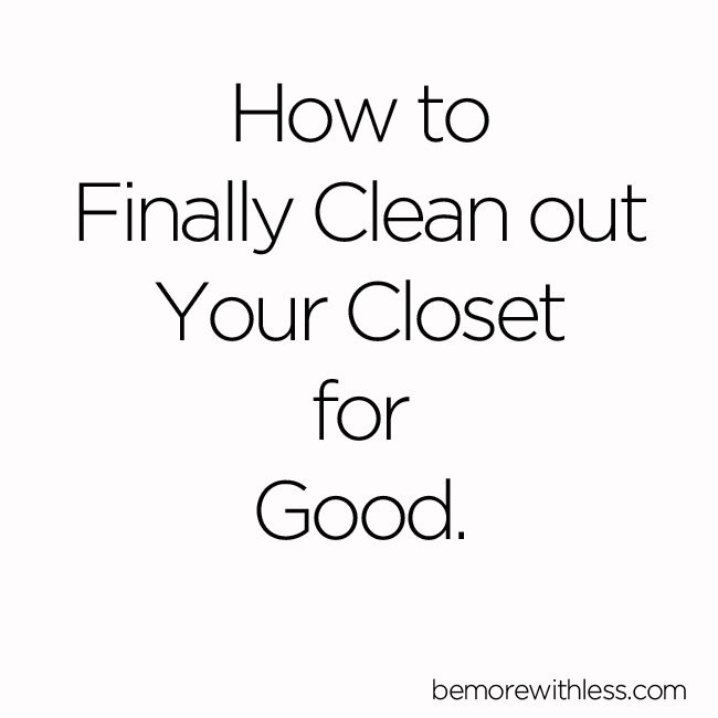 Closet purging and decluttering can be a life long battle. I used to clean out my closet seasonally.  I'd go through my clothes, move things around, take a little out and add more in. I'd drag storage containers in from the garage, swap out items, try to make a little space, and then go shopping to celebrate a new season. Notice the vicious circle pattern I've got going here?