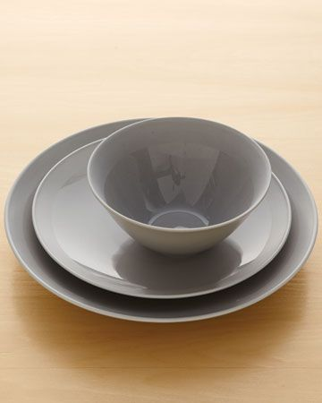 I love this muddy grey for a simple/clean/modern dinnerware from Neimanmarcus.com