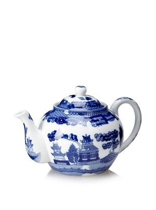 50% OFF Blue Willow Teapot with Infuser