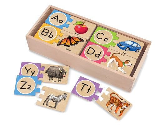 Melissa & Doug Self-Correcting Letter Puzzles | Wooden Toys for Children|12541 | Melissa & Doug Self-Correcting Letter Puzzles from BrightMinds UK