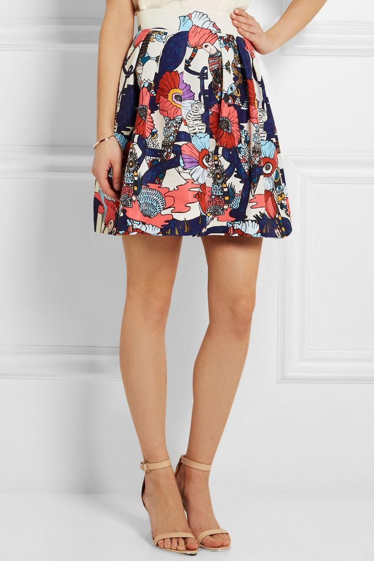 Mary Katrantzou | Algernon printed faille mini skirt