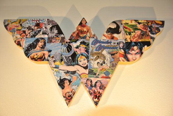 Wonder Woman Logo Wall Plaque made to order by helloskywalker, $35.00
