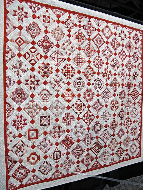 Love red and white quilts!  Road to CA 2012 -- I could never make, but beautiful!