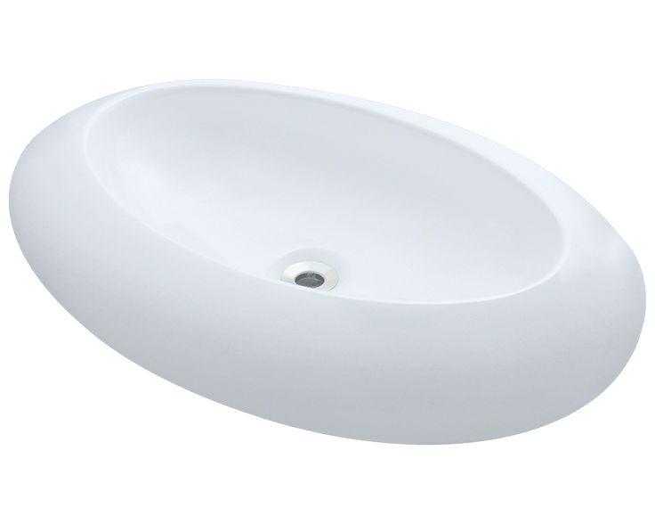 Polaris 25 3 4 Porcelain Oval Bathroom Vessel Sink White P08vw The