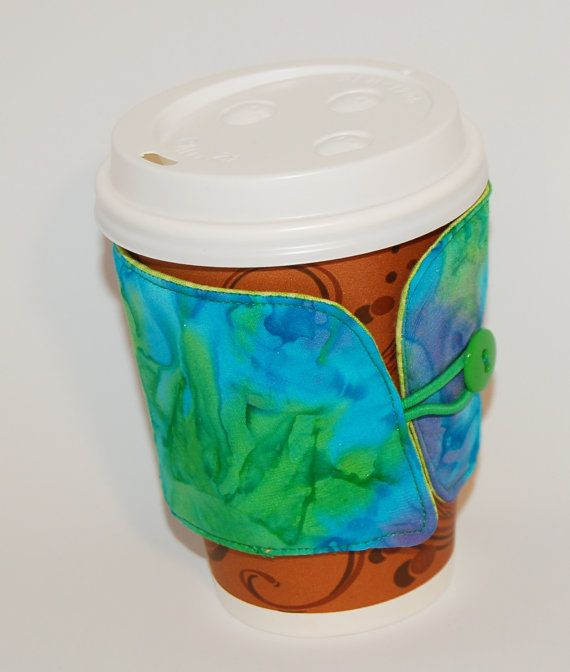 Insulated Coffee Cup Sleeve / Hot Coffee by GiddysBitsandPieces