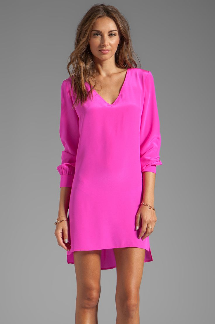 Buy motel coco backless bodycon dress in hot pink at motel rocks - Hot Pink Dress Fashion Amanda Uprichard V Neck Dress