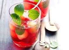 Cranberry Melonen Bowle mit Minze