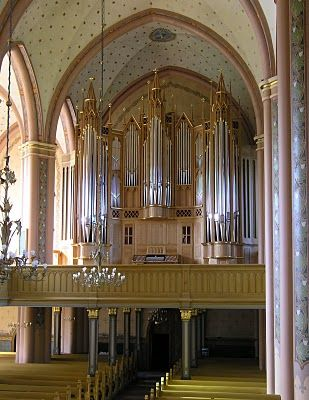 Great Paschen Organ in Central Pori Church, Pori, Finland.