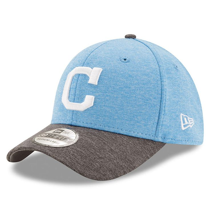 Cleveland Indians New Era 2017 Father's Day 39THIRTY Flex Hat - Heather Blue