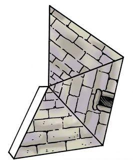 Pyramide, bouwplaat voor kleuters