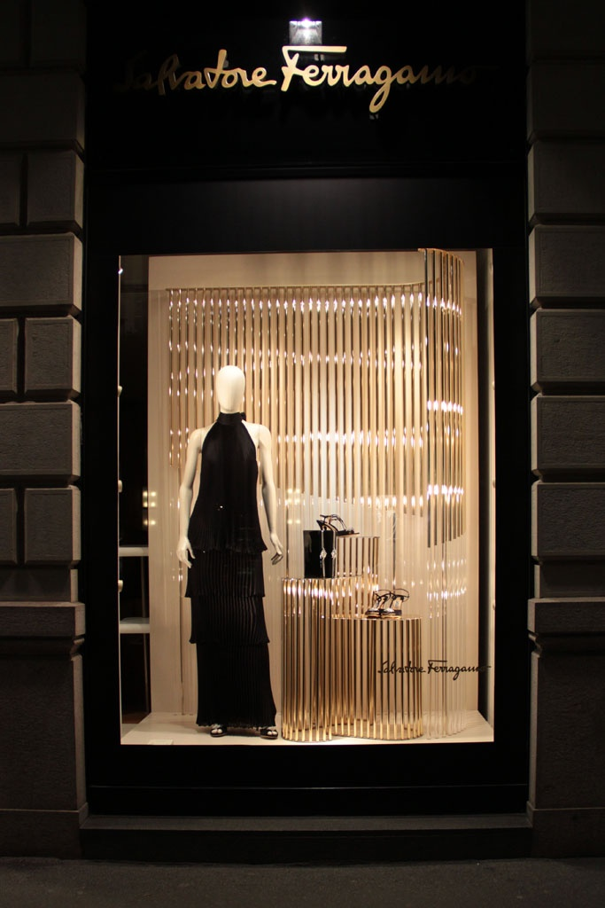 Salvatore Ferragamo Christmas Window by DWA
