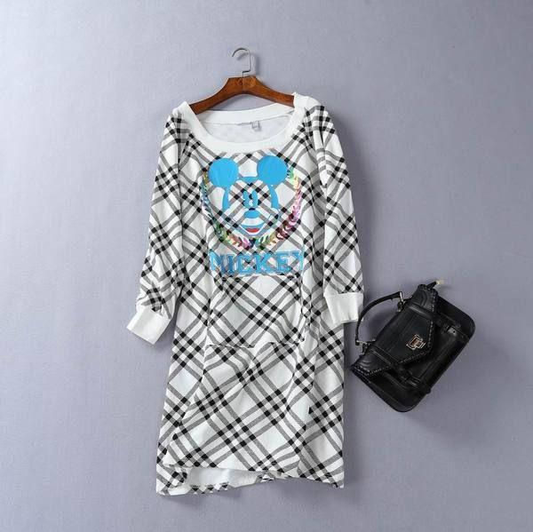 2016 зима новый образец внешней торговли женщин корейской диких моды мультфильм белая полоса и длинные участки свитер G