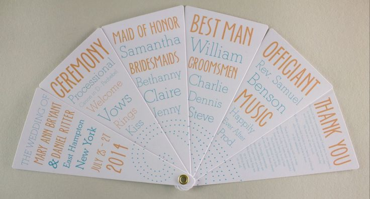 2013 Wedding Collection - Hampton Bays - Program Fan