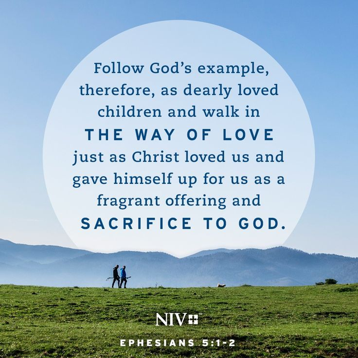 NIV Verse of the Day: Ephesians 5:1-2