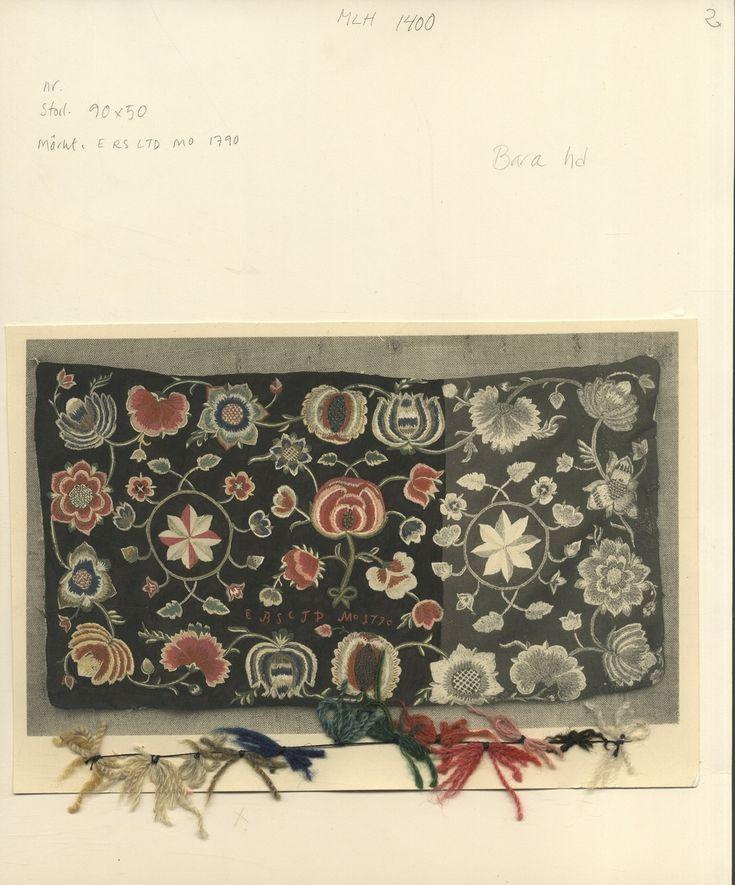Dokumentation av åkdyna,märkt ERS CTD 1797. Hemslöjdens Samlingar