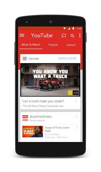 #YouTube Android Material Design Concept