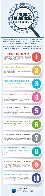 10 mentiras de agencias de publicidad. Infografía en español. #CommunityManager
