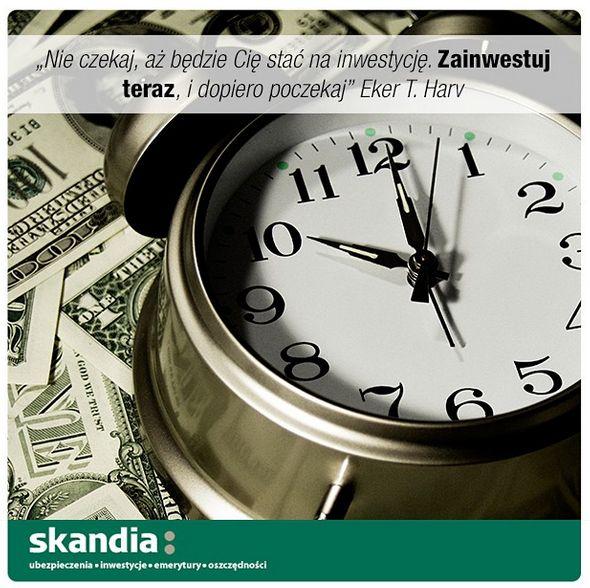 """""""Nie czekaj aż bezie Cię stać na inwestycję> Zainwestuj teraz i dopiero poczekaj"""" Eker T. Harv #inwestycje #czas #motywacja #cytaty #skandia www.skandia.pl  http://instagram.com/skandia_zycie"""