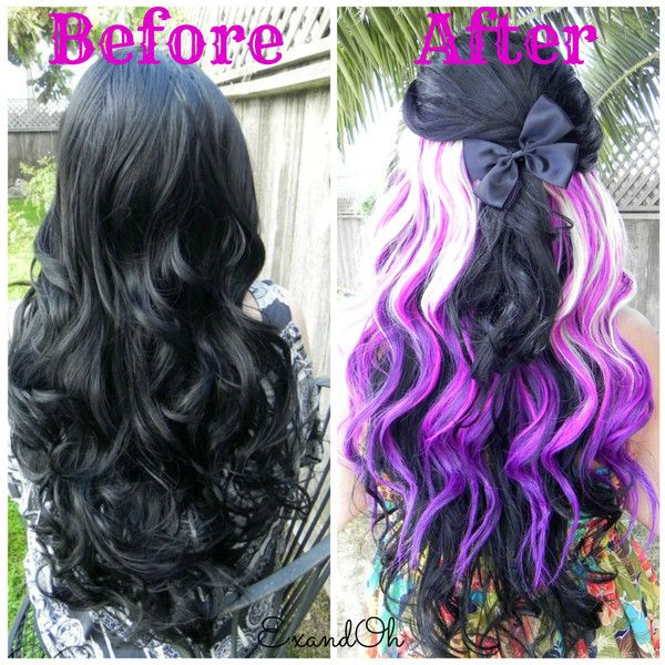 The 25 best one piece hair extensions ideas on pinterest purple blonde clip in 18 long one piece hair extension clip to pmusecretfo Images