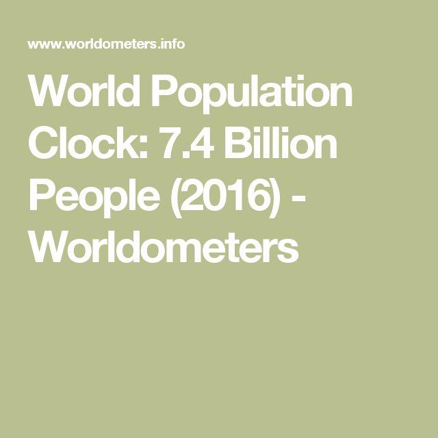 World Population Clock: 7.4 Billion People (2016) - Worldometers