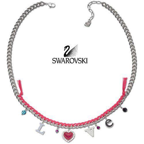 $180 Swarovski Crystal Necklace LOVE SERENADE #1160551 New