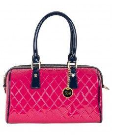 Edel Pink Faux Leather Handheld Handbag