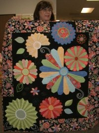 Dresden Plate Quilt-how creative!