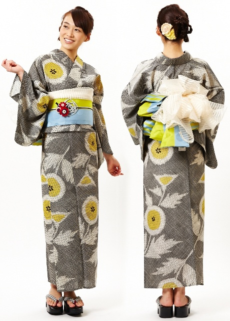 I'm totally on a grey thing right now and this kimono fits right in: Thistle yukata