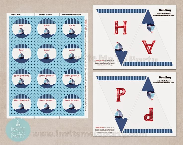 Nautical Party Decorations  Invite Me To Party: Sailboat Birthday Party / Nautical Birthday Party