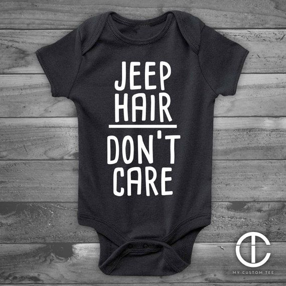 Jeep Hair Don't Care Baby Onesie, Funny Baby Onesie, Handmade Baby Gift, Handmade Baby Shower Gift, Boy or Girl, Gender Reveal