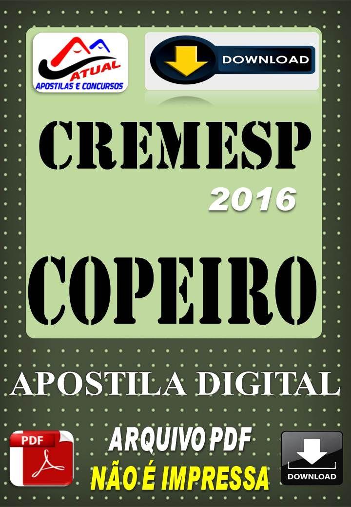 Concurso Cremesp SP Copeiro 2016