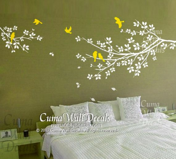 Best Tree Wall Decal Images On Pinterest Nursery Wall Decals - Yellow bird wall decals