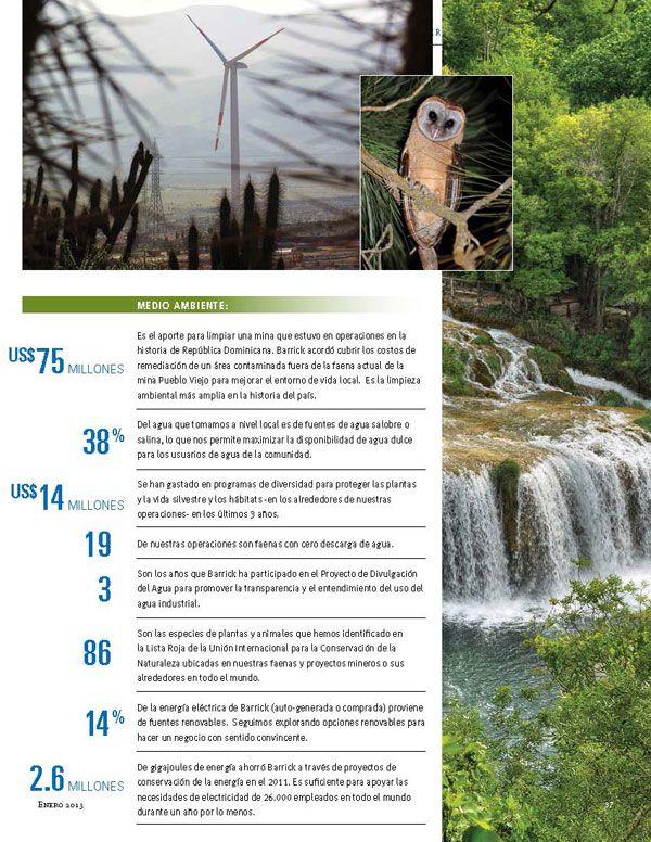 Inversión en Medioambiente - Infografía completa en el sitio de Barrick Sudamérica http://barricksudamerica.com