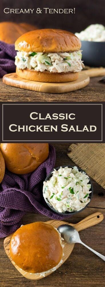 Classic Chicken Salad Recipe - Creamy & Tender via @foxvalleyfoodie