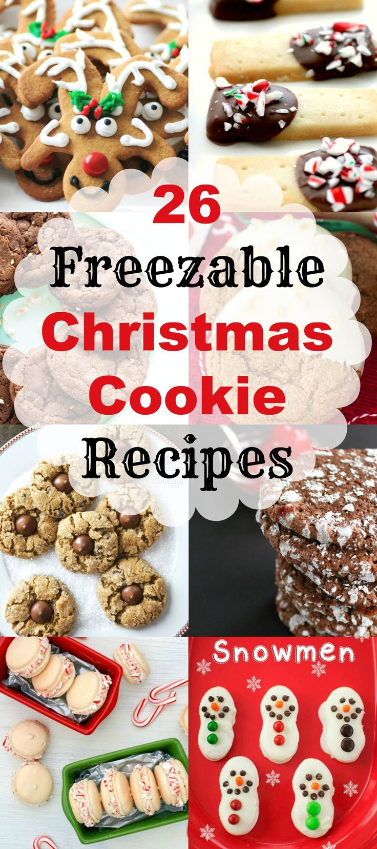 When it is time to serve or make up gifts I have a huge variety to choose from and so will you now with 26 Freezable Christmas Cookie Recipes.