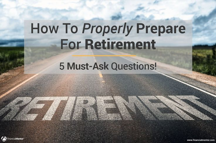 Discover the five questions you must answer when preparing for retirement so you can get on the right track from the start. Are you ready for retirement?