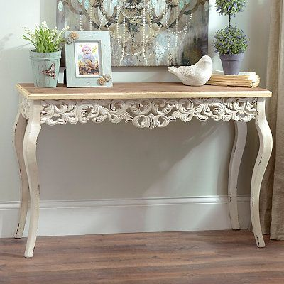 Ivory Baroque Console Table | Kirklands