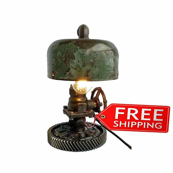 Retro table lamps Industrial steampunk lights Lamp for bedroom