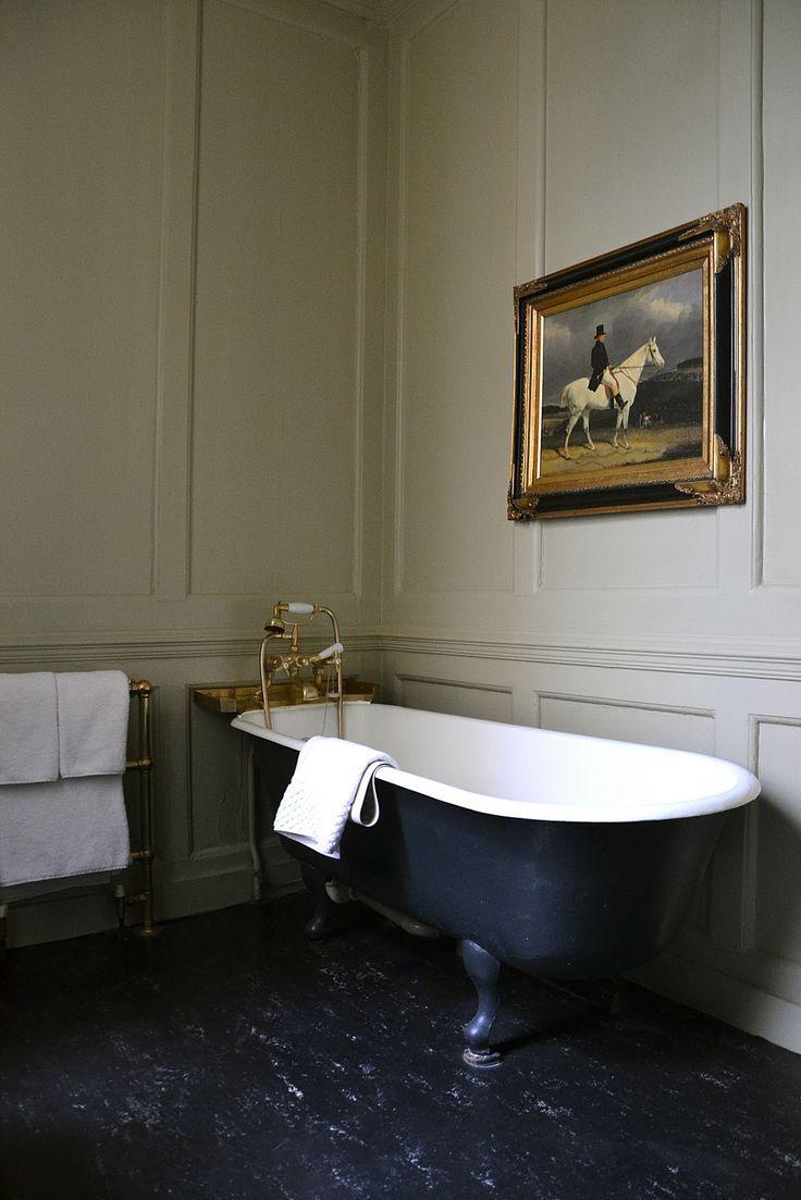 Marmoleum vloer badkamer