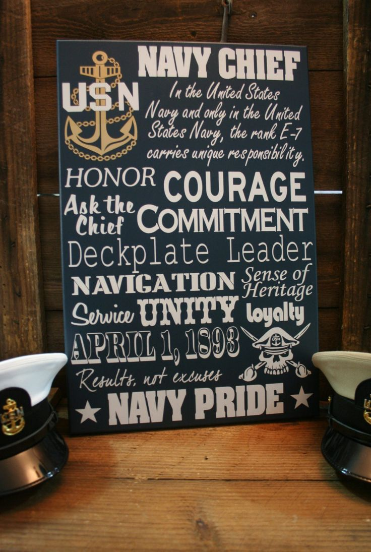 Navy Chief CPO Collage Subway wall Sign by KRCustomWoodcrafts
