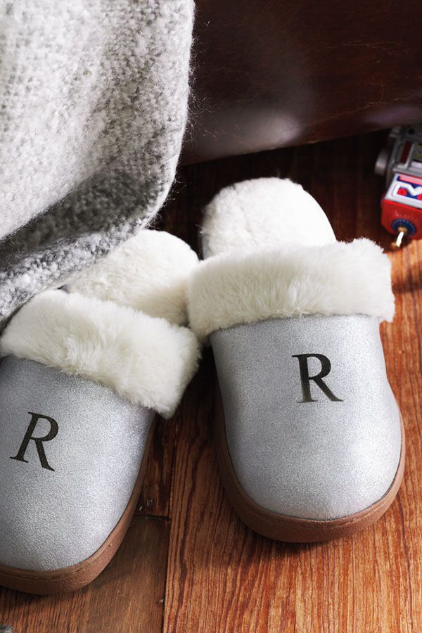 Bring on the toasty toes. Personalize our Faux Fur Slippers with a monogram. Find more great gifts at LandsEnd.com